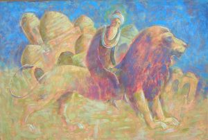 Abu Darun is sovereign of lions 150х100, oil / canvas , 2008150х100, oil / canvas , 2008