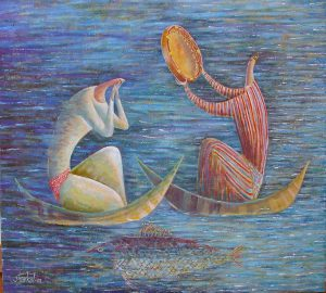 At ocean of life 80x72 cm, oil / canvas, 2001