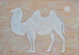 White camel 90х63 сm, aсryilc/саnvas, 2017