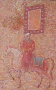 Standard bearer 70х119 сm, oil/canvas