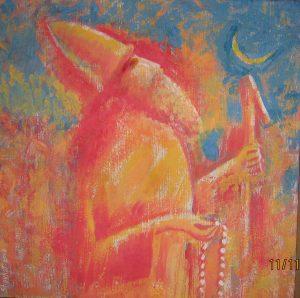 Mashrab (Poet-Sufi) 56x65 cm, akrylic  / саnvas , 2008