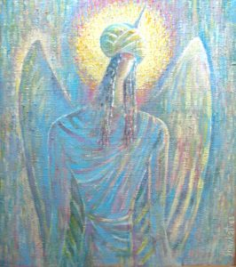 Messenger of truth 43х47 cm, oil / canvas , 2003