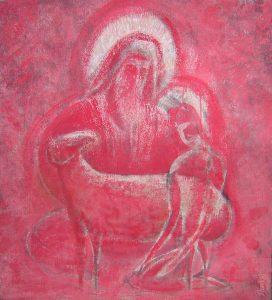 Offering 72х80 cm, acrylic / canvas, 2000