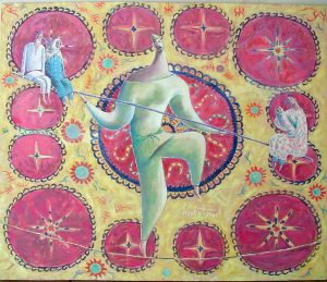 Ropewalker 80х72 cm, oil / canvas,  2001