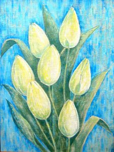 Seven tulips 46x67.2003