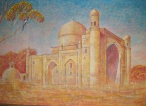The mausoleum of Sheikh Zayniddin baba 110х79 cm, oil / canvas, 2008
