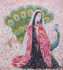 Uzbek beauty 65х57 cm, oil / canvas, 2001