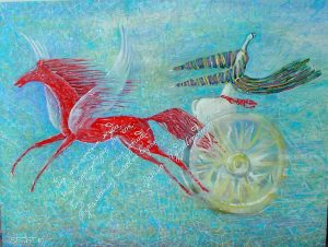 The fast horse of life 80х60 cm, oil / canvas , 2001